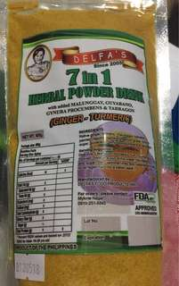 7n1 Herbal powder drink