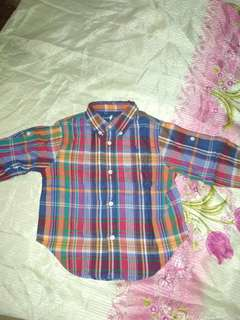Ralph Lauren Plaid longsleeves (12-24 months) NEW