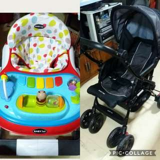 Baby 1st stroller and 3 in 1 walker
