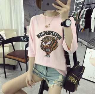 ♥️特價包郵♥️新款短袖t恤女韓版中袖打底衫潮流(Size:S-XL)