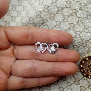 Authentic 925 Italy silver stud earrings