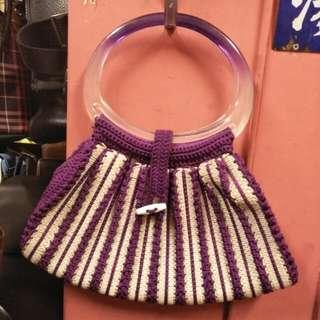 🚚 早期復古編織手提包