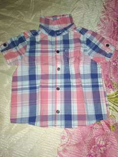 Plaid Polo for boys (12-18 months) LIKE NEW
