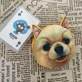 🚚 狗狗零錢包撲克牌 組合