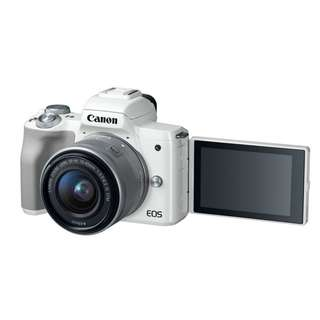 Canon EOS M50 Kit (EF-M 15-45 IS STM). 3 years Canon Malaysia Warranty. Made In Japan ( Ready Stock )