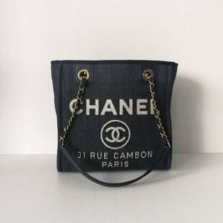 Authentic Chanel PST Denim Tote