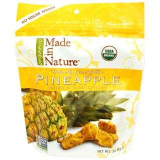 Made in Nature 有機菠蘿零食 美國直送