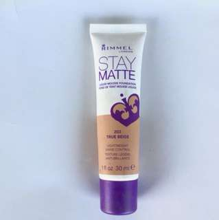 Foundation stay matte by Rimmel