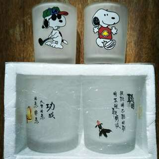 Snoopy mini glass set