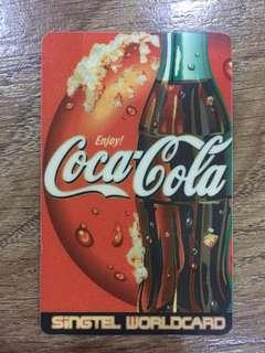 Vintage Coca Cola phonecard