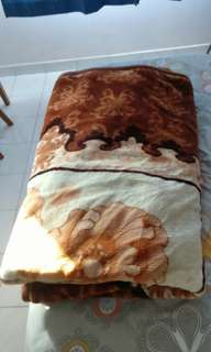 Double Blanket with cover , from saufi Arabia