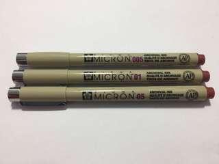 Sakura Micron Pens