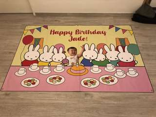 Customised Miffy Backdrop for Birthdays