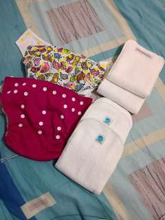 Used cloth diapers