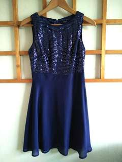 MGP Label Jacey Sequin Dress in Navy