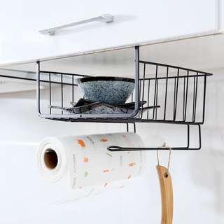衣櫃收納架 金屬置物架 廚房櫥櫃下掛架 隔層掛籃儲物假架