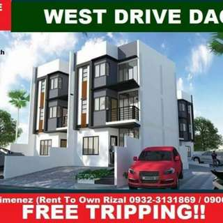 West drive dao 3 storey townhouse near st scholastica 2 units left