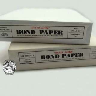 Silver Globe And Armor Brand Bond Paper 500 Sheets