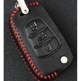 KIA Type C Car Key Leather Pouch