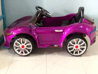 Electric Charge Battery Operated Purple Mercz Car with Remote
