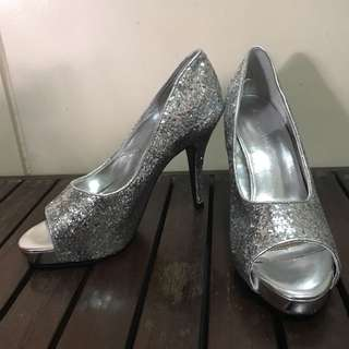 Audrey Brooke Silver high heels