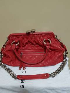 Marc Jacob red chilli stam bag