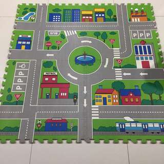Road map and Giant snake and ladders floor mat
