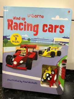 Usborne Children Giant Racing Car F1 Board Book with Wind up Toy (Like New)