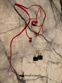 Earphones with adapters