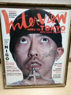 全新罕有 A BATHING APE INTERVIEW MAGAZINE NIGO SIGNED EDITION 親筆簽名 BAPE GENERAL