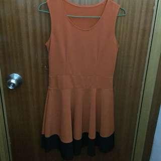 Orange one piece dress