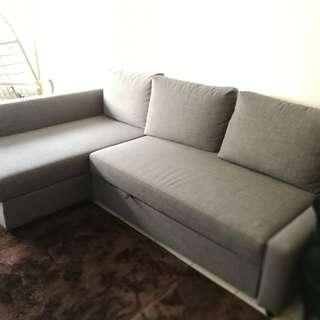 Corner L-shape Sofa bed with storage..