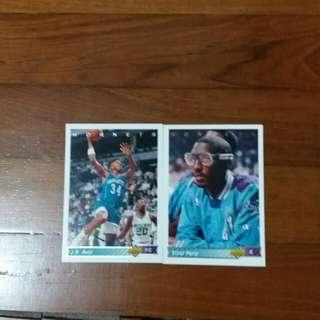 NBA Upper DECK 1992-1993  Chaklotte Hornets 籃球卡