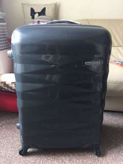 [BN] American tourister luggage crystalite titanium dark grey
