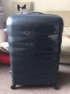 [BN] American tourister luggage crystalite titanium dark grey