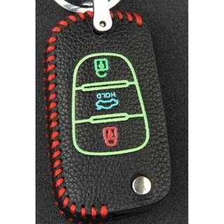 KIA Type C Car Key Leather Pouch W/ Glow