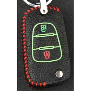 KIA Type D Car Key Leather Pouch W/ Glow