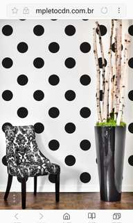 Circle polka dot wall sticker  Home decor ( White . Black . Gray ) $20=20pcs 10cm
