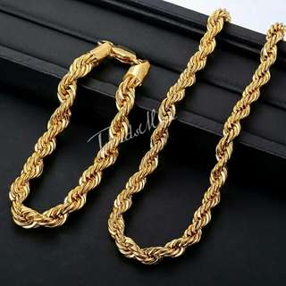 Bracelet set gold plated