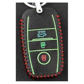 KIA Type A Car Key Leather Pouch W/ Glow