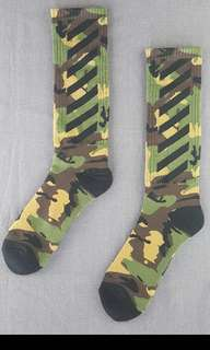 OFfwhite Camo high socks