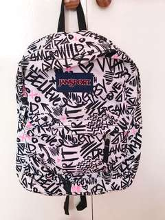 Authentic Jansport Bag with design (lost tag)
