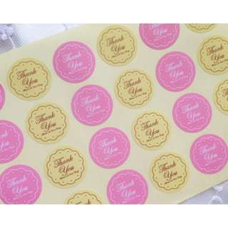 Thank You Wrapping Packaging Sealing Label Baking Gift Round Stickers Pelekat (RM 10 for 3 sheets)