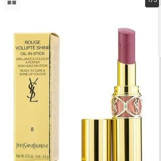 Rouge Volupte Shine #8 Pink in Confidence by Yves Saint Laurent