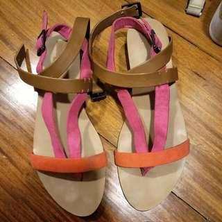 Zara TRF tri color Sandals