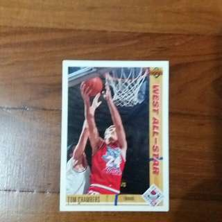 NBA Upper DECK 1991-1992 West All-Star Phoenix Sun Tom Chambers 籃球卡