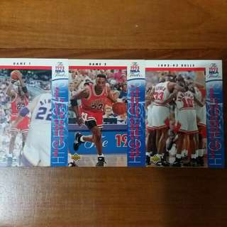 NBA Upper DECK 1992-1993  The NBA Finals Chicago Bulls 籃球卡