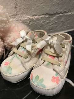 Mothercare baby girl floral shoes