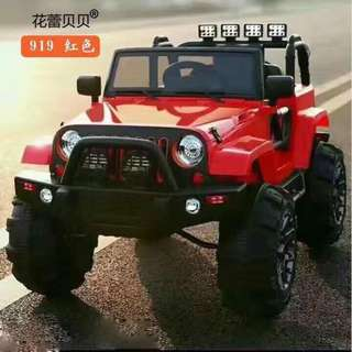 Large Red Jeep Rechargeable Car Ride On Truck