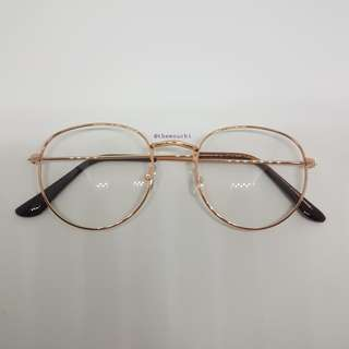 VINTAGE FLAT EYEWEAR ROSE GOLD